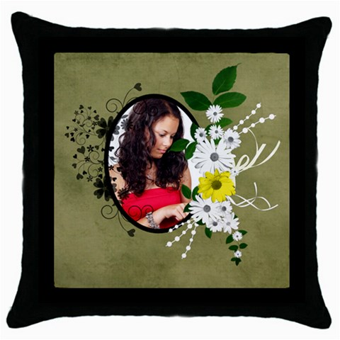 Willow   Throw Pillow Case  By Picklestar Scraps   Throw Pillow Case (black)   Mjpcybtm4nvg   Www Artscow Com Front