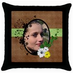 Willow - Throw Pillow Case  - Throw Pillow Case (Black)