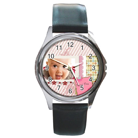 Sweet By Joely   Round Metal Watch   75qi1kt972hs   Www Artscow Com Front