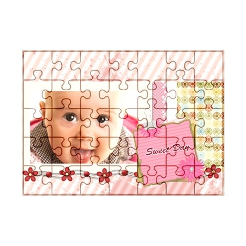 Sweet By Joely   Acrylic Jigsaw Puzzle (7  X 5 )   Kaxr9oh6kvva   Www Artscow Com Front