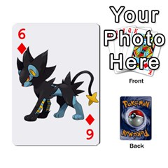Pokemon By Cheesedork   Playing Cards 54 Designs   Rqeon3f3tcgo   Www Artscow Com Front - Diamond6