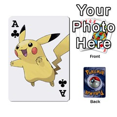 Ace Pokemon By Cheesedork   Playing Cards 54 Designs   Rqeon3f3tcgo   Www Artscow Com Front - ClubA
