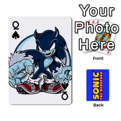 Queen Sonic By Cheesedork   Playing Cards 54 Designs   3d234280gtve   Www Artscow Com Front - SpadeQ