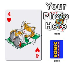 Sonic By Cheesedork   Playing Cards 54 Designs   3d234280gtve   Www Artscow Com Front - Heart4
