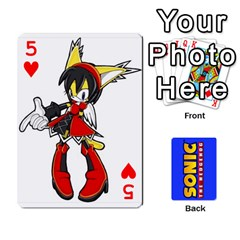 Sonic By Cheesedork   Playing Cards 54 Designs   3d234280gtve   Www Artscow Com Front - Heart5