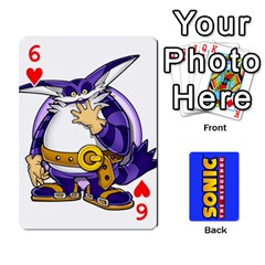 Sonic By Cheesedork   Playing Cards 54 Designs   3d234280gtve   Www Artscow Com Front - Heart6
