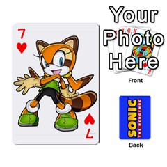 Sonic By Cheesedork   Playing Cards 54 Designs   3d234280gtve   Www Artscow Com Front - Heart7