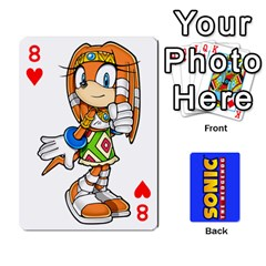 Sonic By Cheesedork   Playing Cards 54 Designs   3d234280gtve   Www Artscow Com Front - Heart8