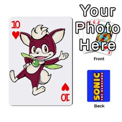 Sonic By Cheesedork   Playing Cards 54 Designs   3d234280gtve   Www Artscow Com Front - Heart10