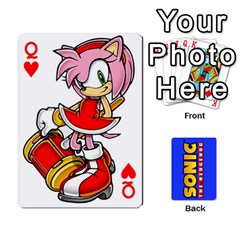 Queen Sonic By Cheesedork   Playing Cards 54 Designs   3d234280gtve   Www Artscow Com Front - HeartQ