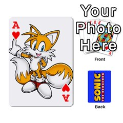 Ace Sonic By Cheesedork   Playing Cards 54 Designs   3d234280gtve   Www Artscow Com Front - HeartA