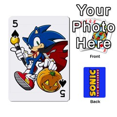 Sonic By Cheesedork   Playing Cards 54 Designs   3d234280gtve   Www Artscow Com Front - Spade5