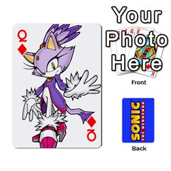 Queen Sonic By Cheesedork   Playing Cards 54 Designs   3d234280gtve   Www Artscow Com Front - DiamondQ