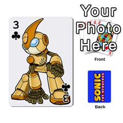 Sonic By Cheesedork   Playing Cards 54 Designs   3d234280gtve   Www Artscow Com Front - Club3