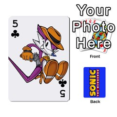 Sonic By Cheesedork   Playing Cards 54 Designs   3d234280gtve   Www Artscow Com Front - Club5