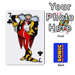 Sonic By Cheesedork   Playing Cards 54 Designs   3d234280gtve   Www Artscow Com Front - Club7
