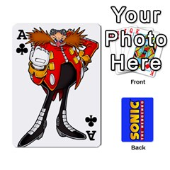 Ace Sonic By Cheesedork   Playing Cards 54 Designs   3d234280gtve   Www Artscow Com Front - ClubA
