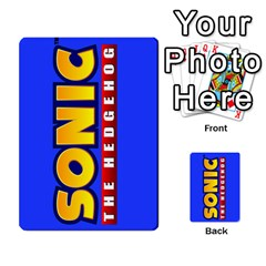 Sonic By Cheesedork   Playing Cards 54 Designs   3d234280gtve   Www Artscow Com Back