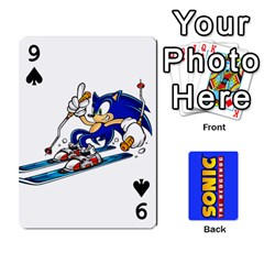 Sonic By Cheesedork   Playing Cards 54 Designs   3d234280gtve   Www Artscow Com Front - Spade9