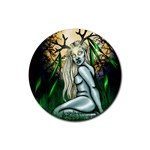 Lady of the Forest   Rubber Round Coaster (4 pack)