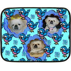 cute bird mini fleece blanket by Kim Blair 35 x27 Blanket Front