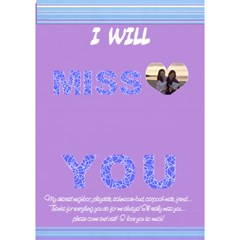 Miss You! By Rachel   Miss You 3d Greeting Card (7x5)   00ocaffxbjq4   Www Artscow Com Inside