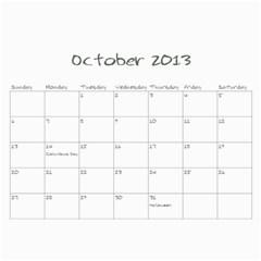 2013 Sam Fisher 18 Month Calendar By Alina Waring   Wall Calendar 11  X 8 5  (18 Months)   Mufvge9418bg   Www Artscow Com Oct 2013