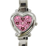 Heart overlay watch - Heart Italian Charm Watch