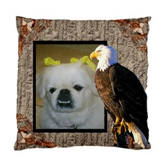 Eagle two sides pillow case by Kim Blair Back