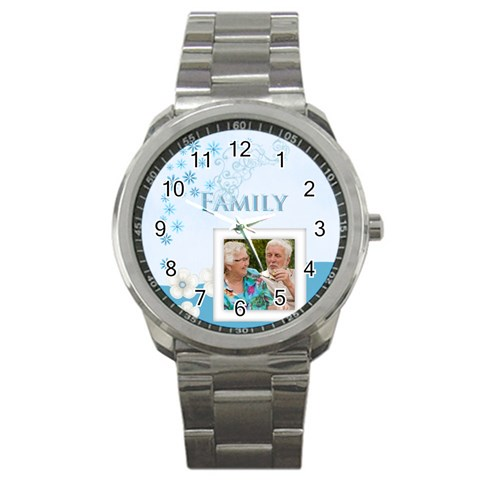 Family By Joely   Sport Metal Watch   B1zqhsivgbj4   Www Artscow Com Front