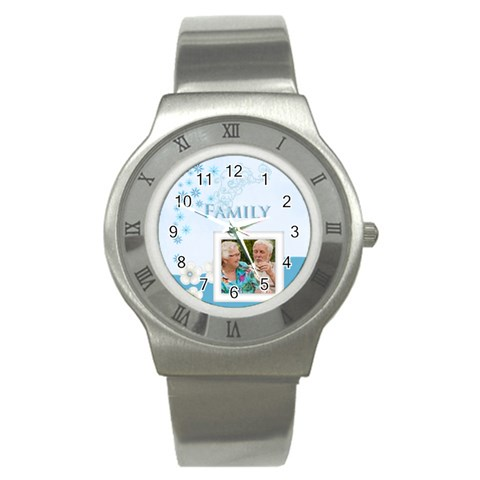 Family By Joely   Stainless Steel Watch   6mo92bcypn0e   Www Artscow Com Front