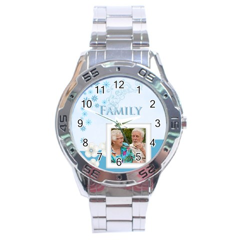 Family By Joely   Stainless Steel Analogue Watch   A7z3hliaz11q   Www Artscow Com Front