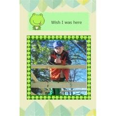 Cute Frog Notebook By Kim Blair   5 5  X 8 5  Notebook   Sdxmc3v4myrw   Www Artscow Com Back Cover Inside