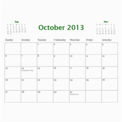 Touhou Calendar By George   Wall Calendar 11  X 8 5  (12 Months)   0jsc1d55gvdh   Www Artscow Com Oct 2013