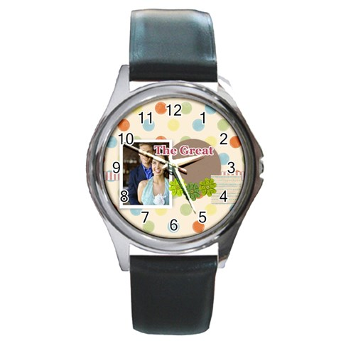 The Great By Joely   Round Metal Watch   Zpos11vedoaq   Www Artscow Com Front