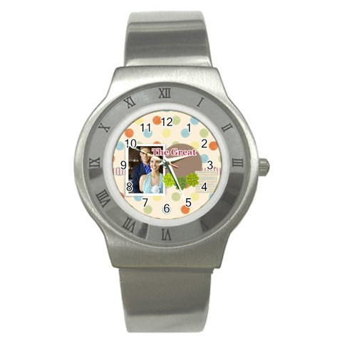 The Great By Joely   Stainless Steel Watch   X7omauolel0e   Www Artscow Com Front