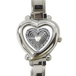 silver heart watch - Heart Italian Charm Watch