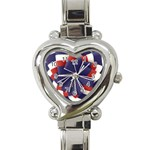 Patriotic heart watch - Heart Italian Charm Watch