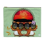 Owl couple Cosmetic Bag Large - Cosmetic Bag (XL)