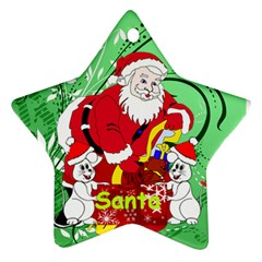 Red And Green Star Ornament By Kim Blair   Star Ornament (two Sides)   F7jrytsm5eab   Www Artscow Com Back