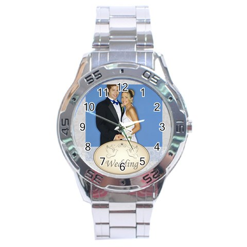 Wedding By Joely   Stainless Steel Analogue Watch   Tzjaa6eh6r9n   Www Artscow Com Front