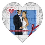 wedding - Acrylic Heart Jigsaw Puzzle  (8  x 8 )