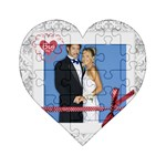 wedding - Acrylic Heart Jigsaw Puzzle  (4  x 4 )