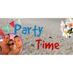 Party Time 3D Card - PARTY 3D Greeting Card (8x4)