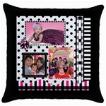 julia1 - Throw Pillow Case (Black)