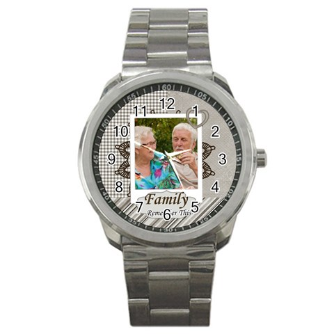 Family By Joely   Sport Metal Watch   Bj0yskt1xbwl   Www Artscow Com Front