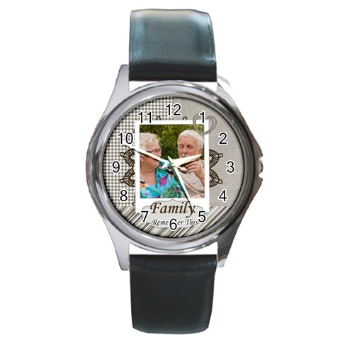 Family By Joely   Round Metal Watch   Ywewlgqcrt0g   Www Artscow Com Front