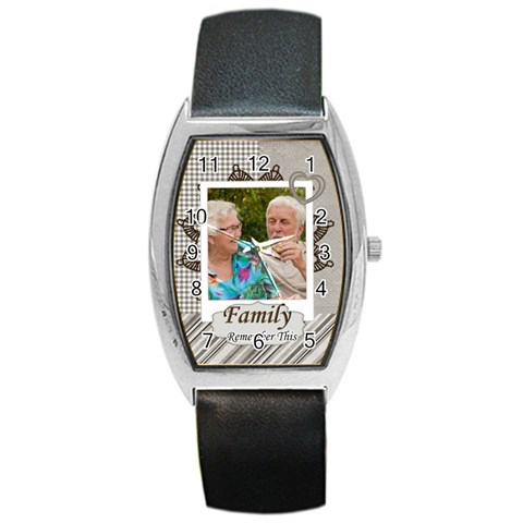 Family By Joely   Barrel Style Metal Watch   G0gt2jonztvp   Www Artscow Com Front