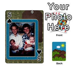 Family Cards By Cassie White   Playing Cards 54 Designs   Qaniqurzjlvh   Www Artscow Com Front - Spade5