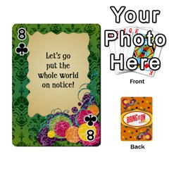 Bio Playing Cards 54 Final By Pat Kirby   Playing Cards 54 Designs   N6o9uectlw0x   Www Artscow Com Front - Club8